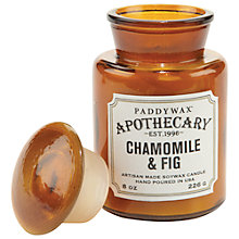 Buy Paddywax Apothecary Chamomile and Fig Scented Candle Online at johnlewis.com