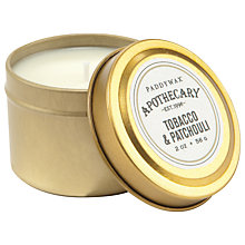Buy Paddywax Apothecary Tobacco and Patchouli Scented Candle Tin Online at johnlewis.com