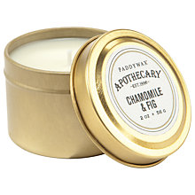 Buy Paddywax Apothecary Chamomile and Fig Scented Candle Tin Online at johnlewis.com