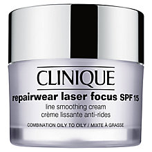 Buy Clinique Repairwear Laser Focus SPF 15 Line Smoothing Cream – Combination Oily to Oily, 50ml Online at johnlewis.com