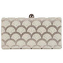 Buy Chesca Embellished Pearl Clutch Bag, Silver Online at johnlewis.com