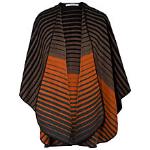 Buy Chesca Striped Wrap, Orange/Cappuccino Online at johnlewis.com