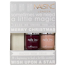 Buy Nails Inc Exclusive Nail Polish Gift Set, 2 x 4ml Online at johnlewis.com