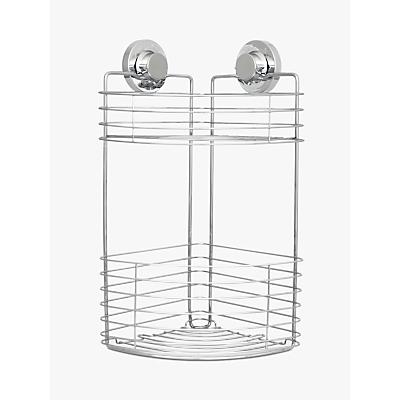 Bliss Lock N Roll 2 Tier Suction Shower Corner Basket