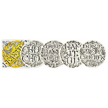 "Buy Emma Bridgewater Black Toast 'Feasting' Plates, 8.5"", Set of 4, Yellow Boxed Online at johnlewis.com"