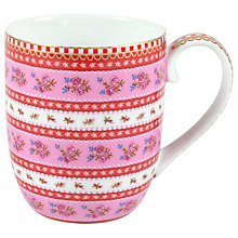Buy Pip Studio Ribbon Rose Senseo Mug, Pink Online at johnlewis.com