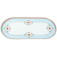 Buy Pip Studio Big Floral Tray, Blue Online at johnlewis.com