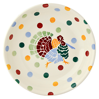 Emma Bridgewater Polka Dot Christmas Turkey Pasta Bowl