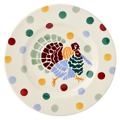 Emma Bridgewater Polka Dot Christmas Turkey Plate