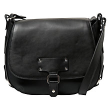 Buy Mango Buckle Cross Body Bag, Black Online at johnlewis.com