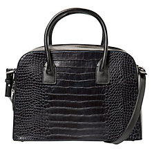 Buy Mango Croc-Effect Tote Bag, Navy Online at johnlewis.com