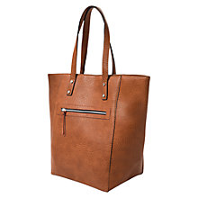 Buy Mango Pebbled Shopper Bag, Medium Brown Online at johnlewis.com