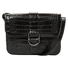 Buy Mango Triple Compartment Bag, Black Online at johnlewis.com