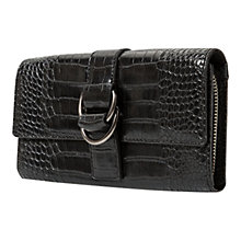 Buy Mango Buckle Croc-Effect Clutch, Black Online at johnlewis.com