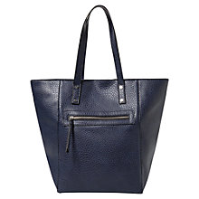 Buy Mango Pebbled Zip Detail Shopper Bag Online at johnlewis.com