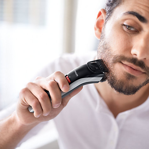 buy philips qt4013 23 beard stubble trimmer black red john lewis. Black Bedroom Furniture Sets. Home Design Ideas