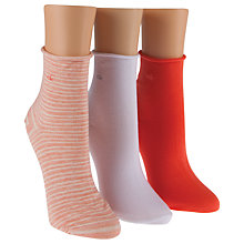Buy Calvin Klein Short Roll Top Ankle Socks, Pack of 3 Online at johnlewis.com