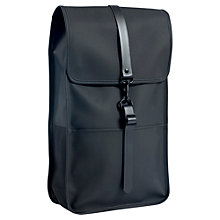 "Buy Rains Waterproof 13"" Laptop Backpack, Black Online at johnlewis.com"