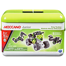 Buy Meccano Junior Easy Toolbox Set, 76 Pieces Online at johnlewis.com