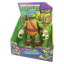 Buy Teenage Mutant Ninja Turtles Battle Shell Figure, Leonardo Online at johnlewis.com