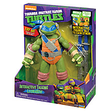 Buy Teenage Mutant Ninja Turtles Interactive Talking Figure, Leonardo Online at johnlewis.com