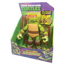 Buy Teenage Mutant Ninja Turtles Battle Shell Figure, Michelangelo Online at johnlewis.com
