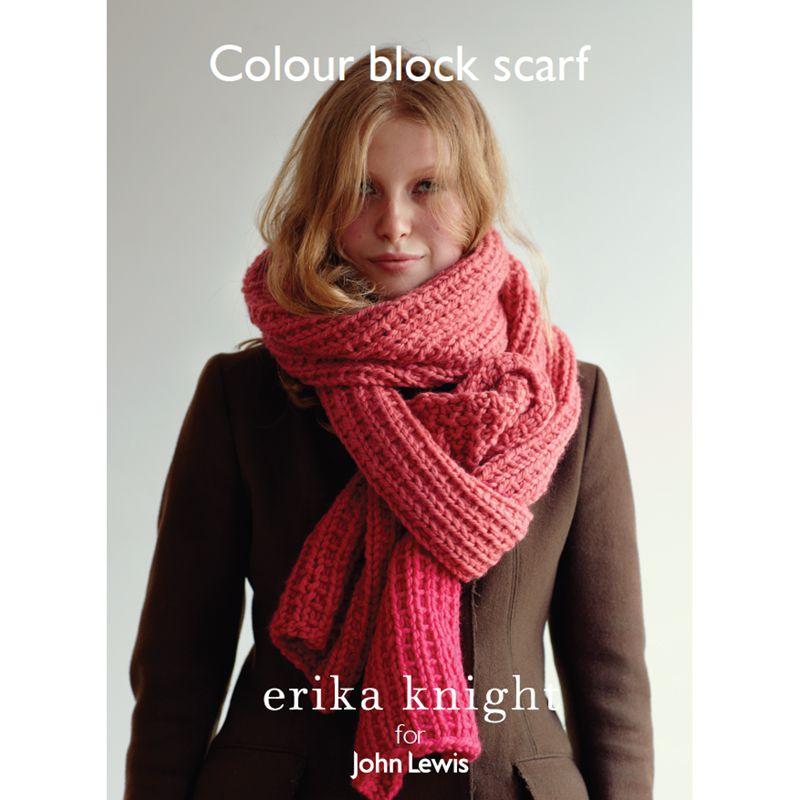 Erika Knight for John Lewis Erika Knight for John Lewis Colour Block Scarf Knitting Pattern