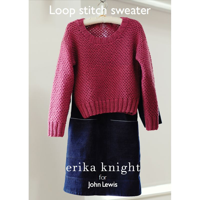 Knitting Pattern John Lewis : Buy Erika Knight for John Lewis Loop Stitch Sweater Knitting Pattern John L...