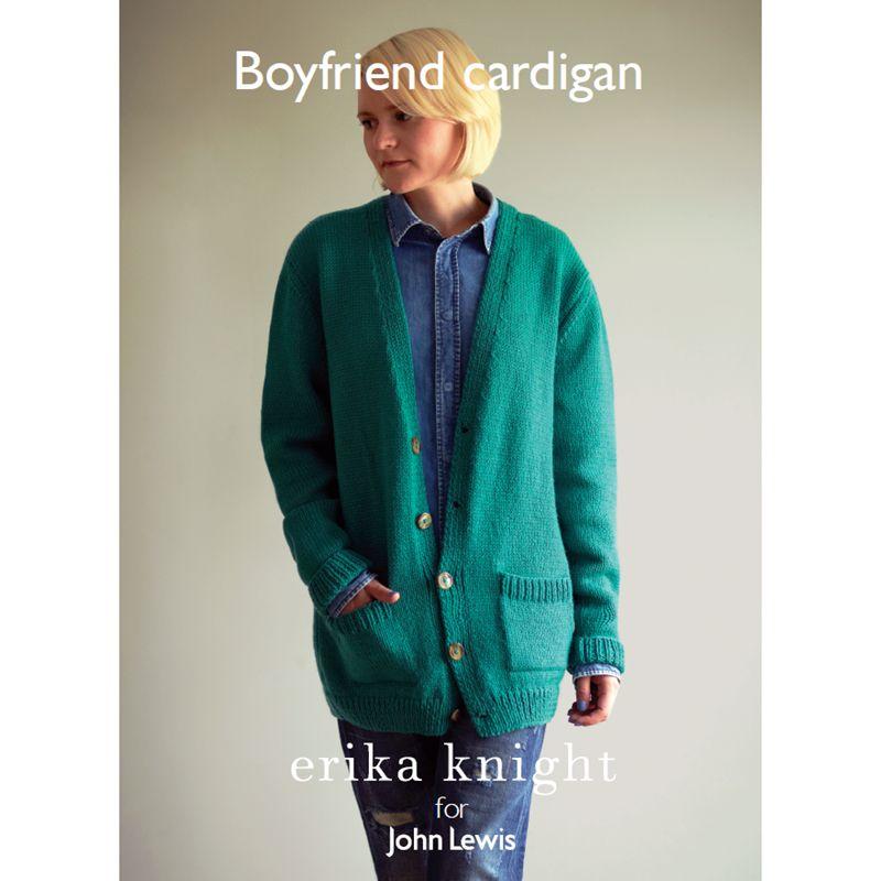 Erika Knight for John Lewis Erika Knight for John Lewis Boyfriend Cardigan Knitting Pattern