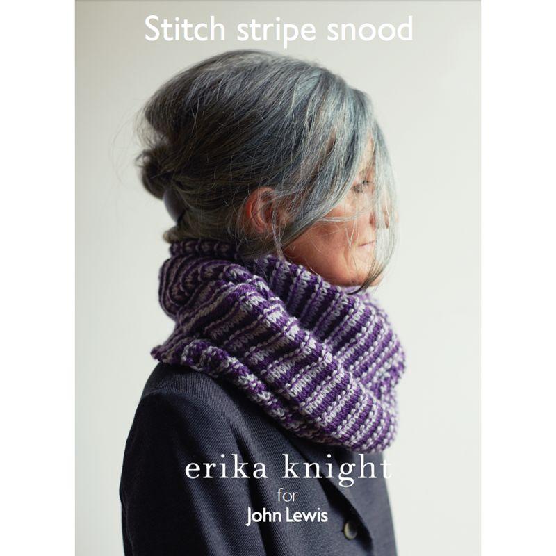 Erika Knight for John Lewis Erika Knight for John Lewis Stitch Stripe Snood Knitting Pattern