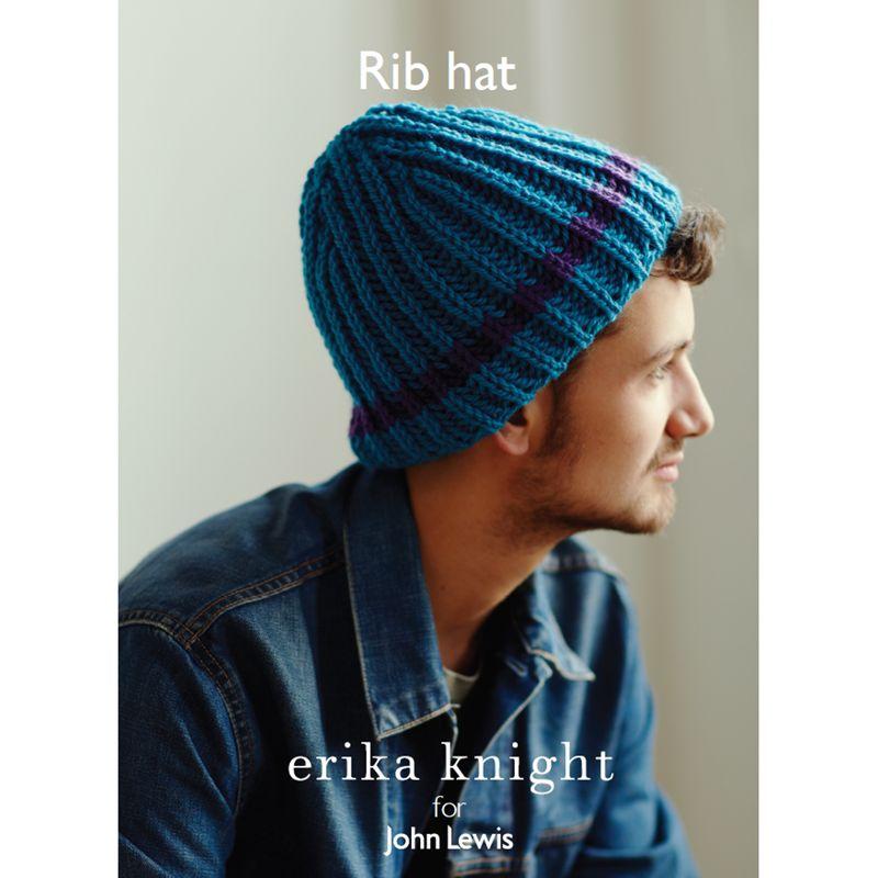 Erika Knight for John Lewis Erika Knight for John Lewis Rib Hat Knitting Pattern