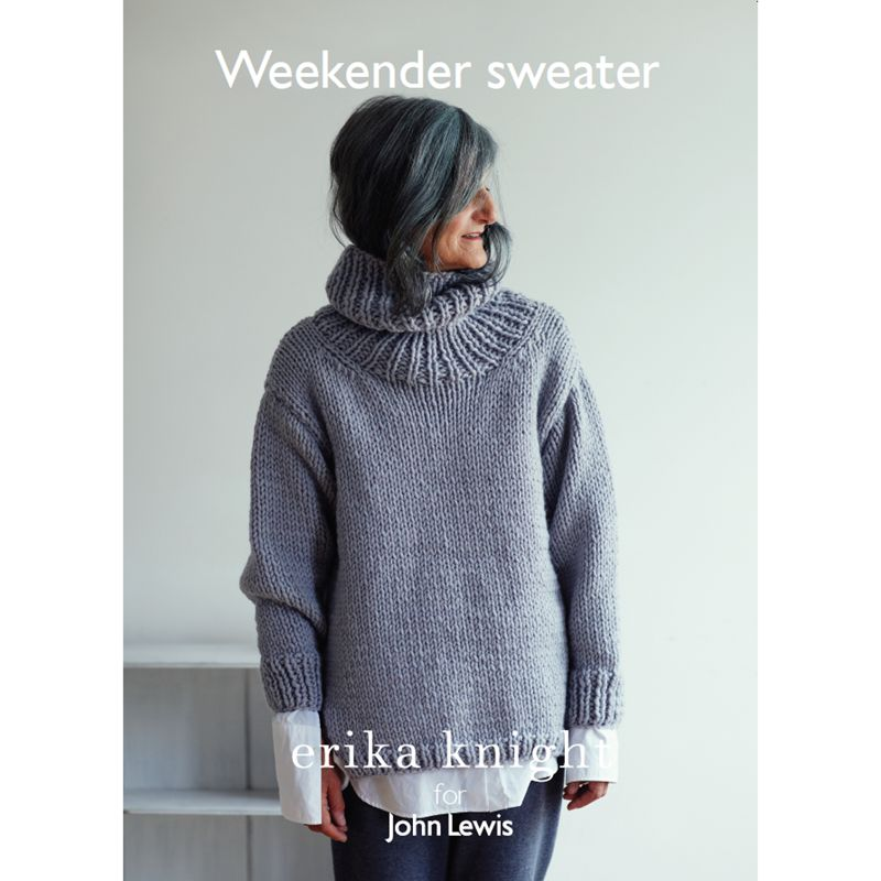 Buy Erika Knight for John Lewis Weekender Sweater Knitting Pattern John Lewis