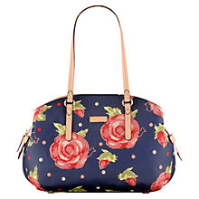 Buy Radley Autumn Rose Fab Shoulder, Navy Online at johnlewis.com