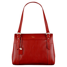 Buy Radley Chelsea Medium Leather Shoulder Bag, Red Online at johnlewis.com