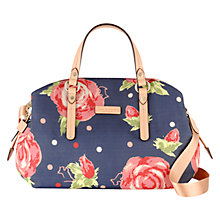 Buy Radley Autumn Rose Medium Fabric Multiway Grab Bag, Navy Online at johnlewis.com