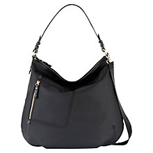 Buy Radley Shilling Large Hobo Bag, Black Online at johnlewis.com