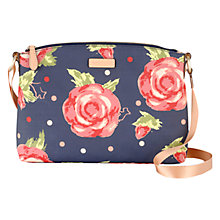 Buy Radley Autumn Rose Cotton Canvas Across Body Bag, Navy Online at johnlewis.com