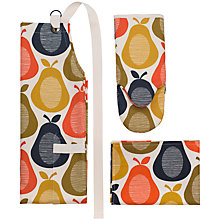 Buy Orla Kiely Pear Apron, Oven Mitt, Tea Towel Set Online at johnlewis.com