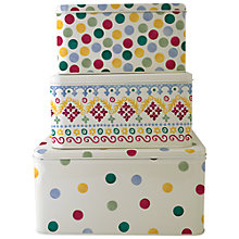 Buy Emma Bridgewater Square Cake Tins, Set Of 3, Polka Dot Online at johnlewis.com