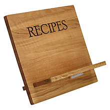 Buy John Lewis Cookbook Stand, Wood Online at johnlewis.com