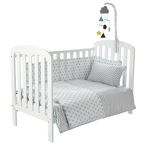 Buy John Lewis Baby Chevron and Stars Cot/Cotbed Cotton ...