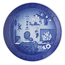 Buy Royal Copenhagen Christmas Days 2015 Plate Online at johnlewis.com