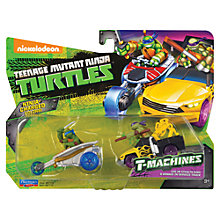 Buy Teenage Mutant Ninja Turtles T-Machines Vehicle Double Pack, Leo & Donnie Online at johnlewis.com