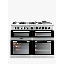 Buy Leisure CS100F520X Cuisinemaster Freestanding Dual Fuel Range Cooker, Stainless Steel Online at johnlewis.com