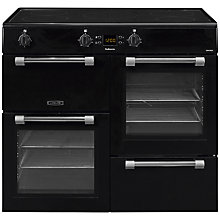 Buy Leisure Cookmaster CK100D210K Freestanding Electric Range Cooker, Black Online at johnlewis.com