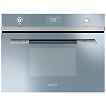 Buy Smeg SF4120MCS Integrated Combination Microwave Oven Online at johnlewis.com