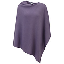 Buy Pure Collection Cashmere Poncho, Smokey Mauve Online at johnlewis.com