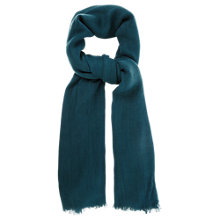 Buy Oasis Textured Scarf, Medium Green Online at johnlewis.com