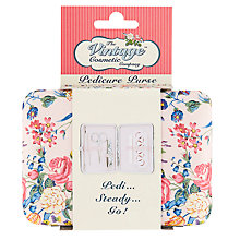 Buy The Vintage Cosmetic Company Pink Floral Pedicure Purse Online at johnlewis.com
