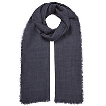 Buy John Lewis Melange Wool Scarf, Navy Online at johnlewis.com